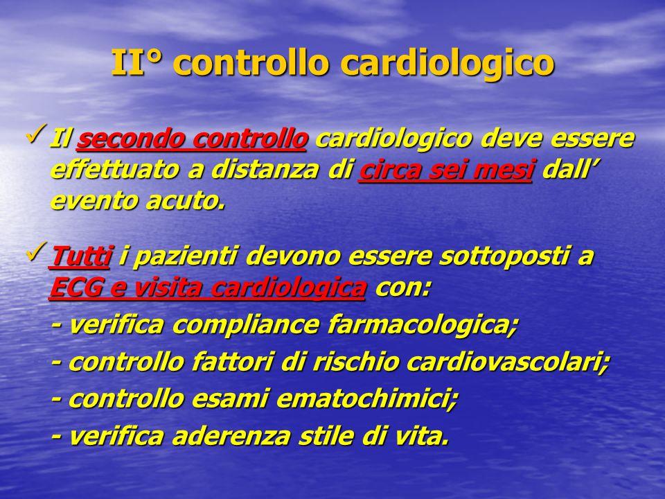 II° controllo cardiologico