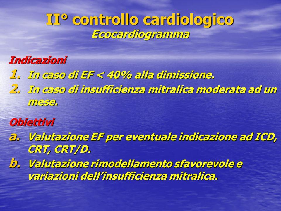 II° controllo cardiologico Ecocardiogramma