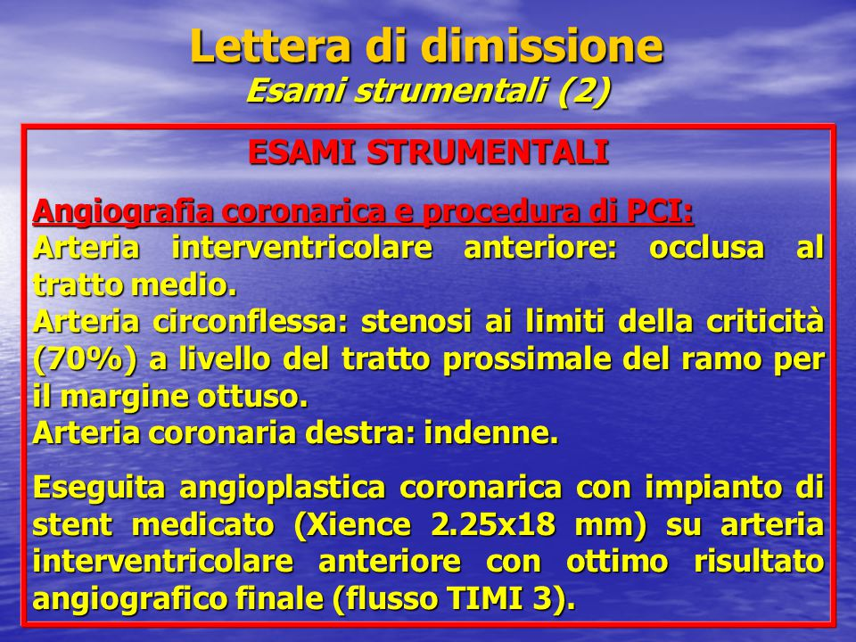Lettera di dimissione Esami strumentali (2)