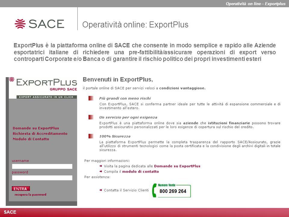 Operatività online: ExportPlus
