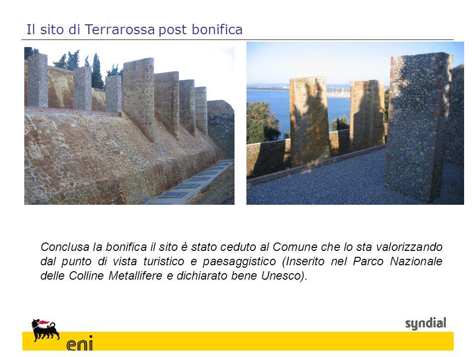 Il sito di Terrarossa post bonifica