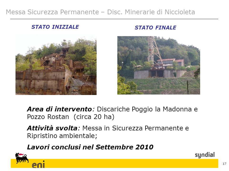 Messa Sicurezza Permanente – Disc. Minerarie di Niccioleta