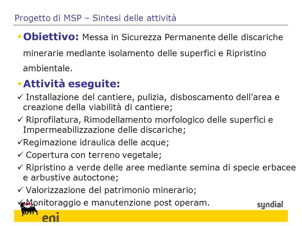 Progetto di MSP – Sintesi delle attività