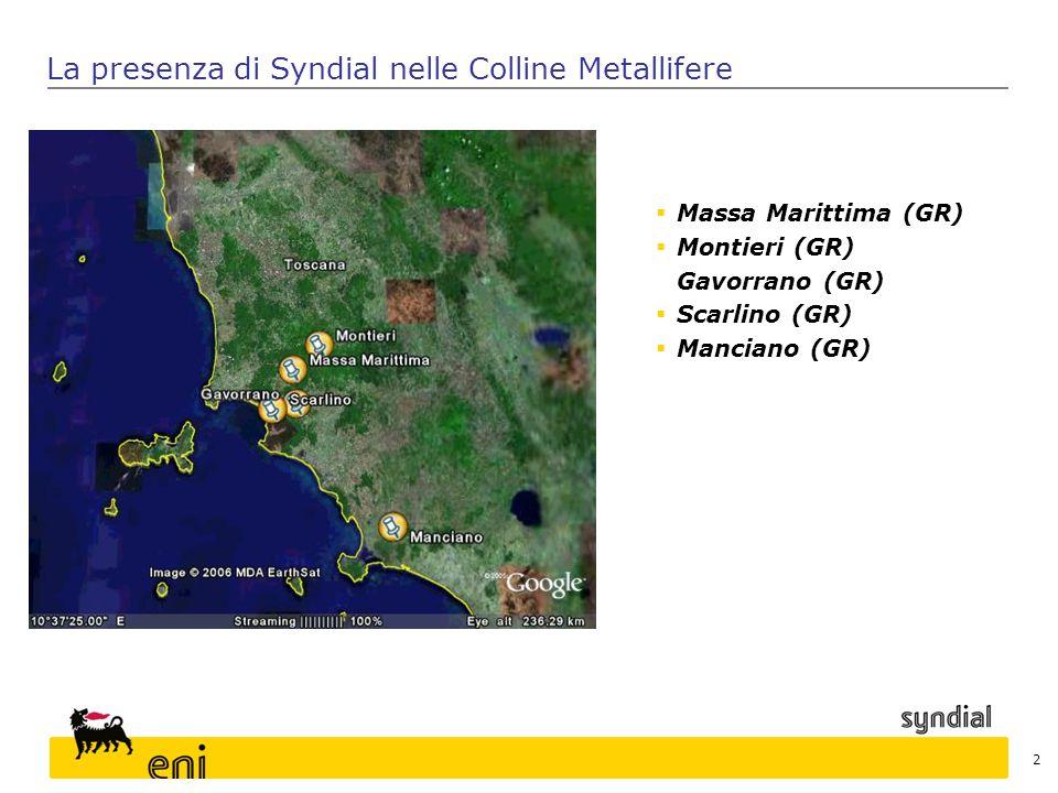 La presenza di Syndial nelle Colline Metallifere
