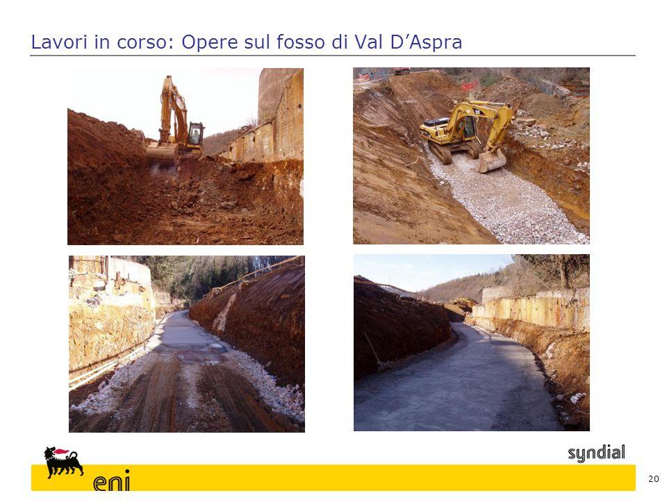 Lavori in corso: Opere sul fosso di Val D'Aspra