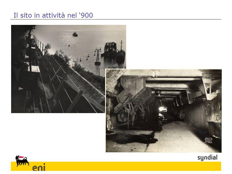 Il sito in attività nel '900