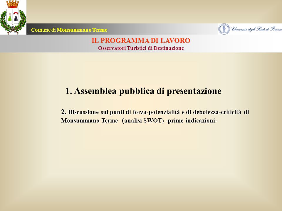1. Assemblea pubblica di presentazione