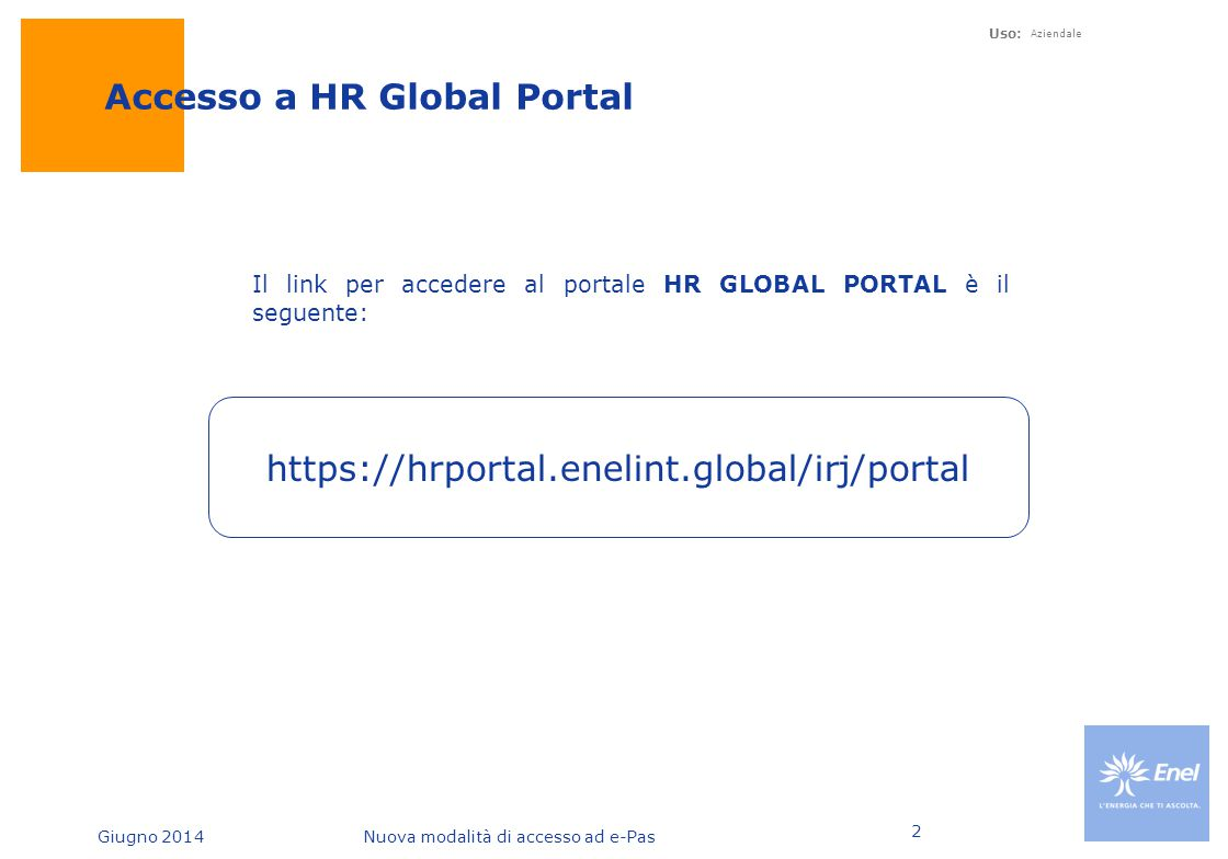 Accesso a HR Global Portal
