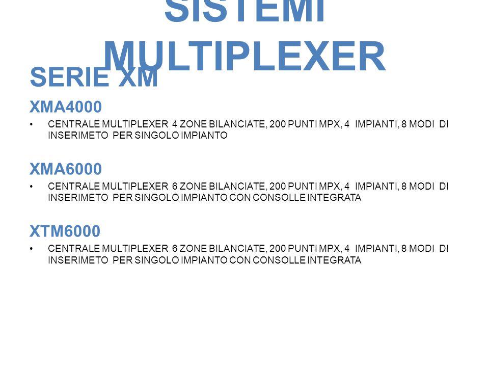 SISTEMI MULTIPLEXER SERIE XM XMA4000 XMA6000 XTM6000