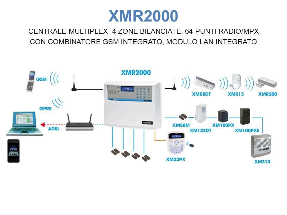 XMR2000 CENTRALE MULTIPLEX 4 ZONE BILANCIATE, 64 PUNTI RADIO/MPX