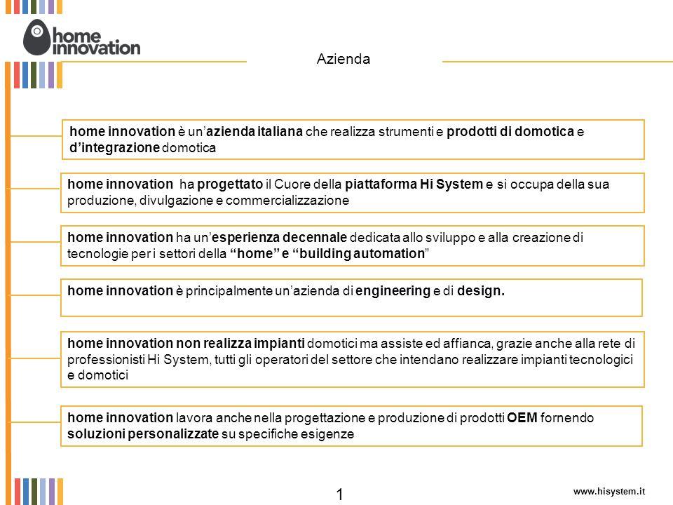 Azienda home innovation è un'azienda italiana che realizza strumenti e prodotti di domotica e d'integrazione domotica.