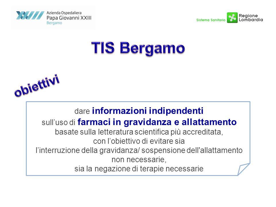 TIS Bergamo obiettivi dare informazioni indipendenti