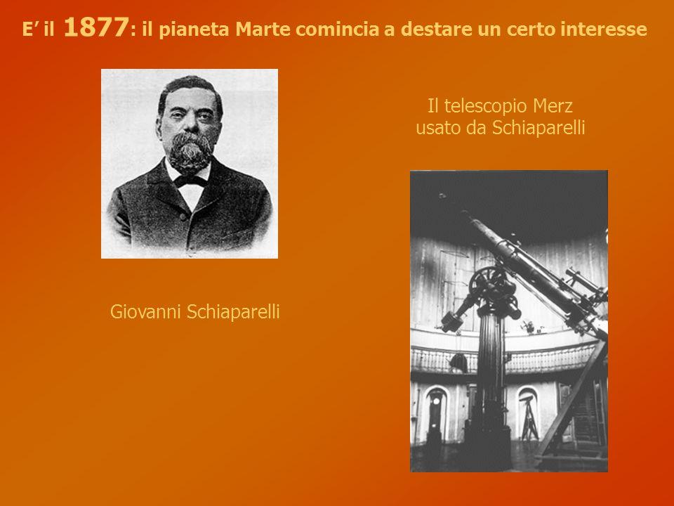 E' il 1877: il pianeta Marte comincia a destare un certo interesse