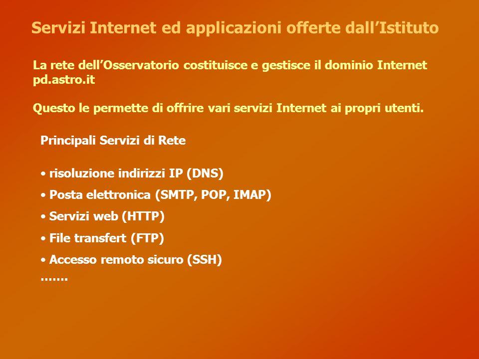 Servizi Internet ed applicazioni offerte dall'Istituto