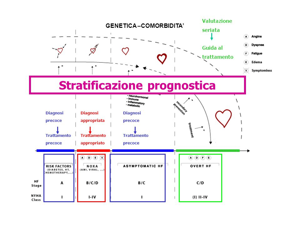 GENETICA –COMORBIDITA' Stratificazione prognostica