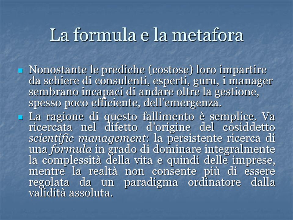 La formula e la metafora
