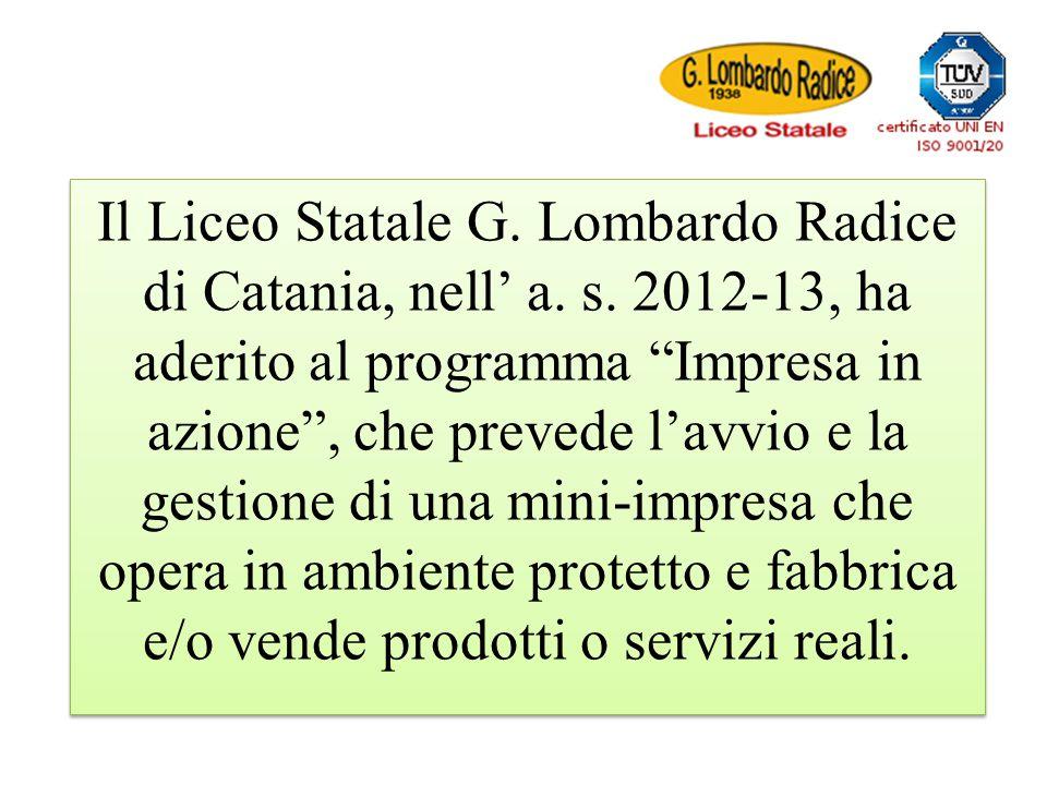 Il Liceo Statale G. Lombardo Radice di Catania, nell' a. s