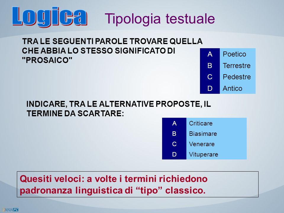 Logica Tipologia testuale