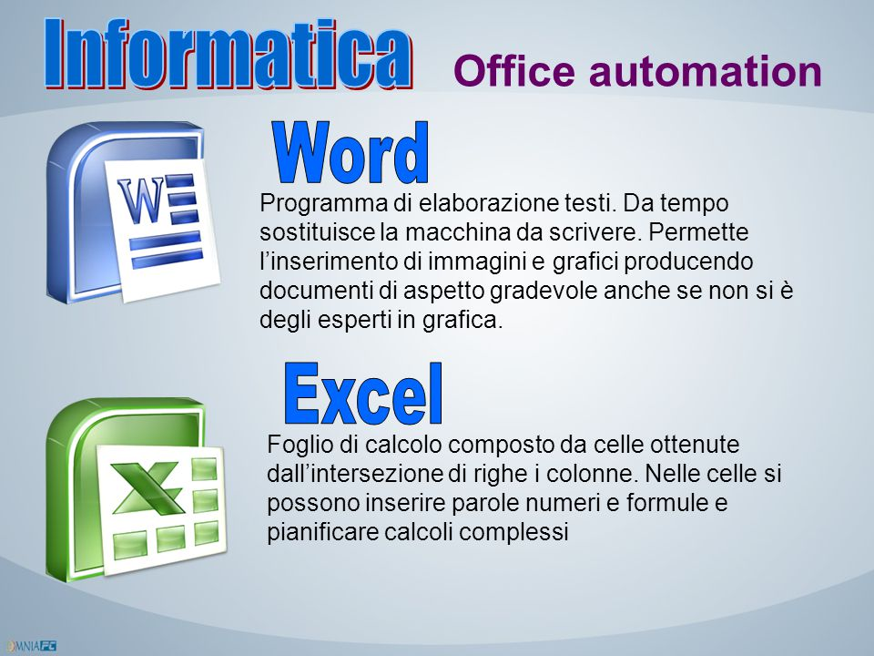 Informatica Office automation Word Excel