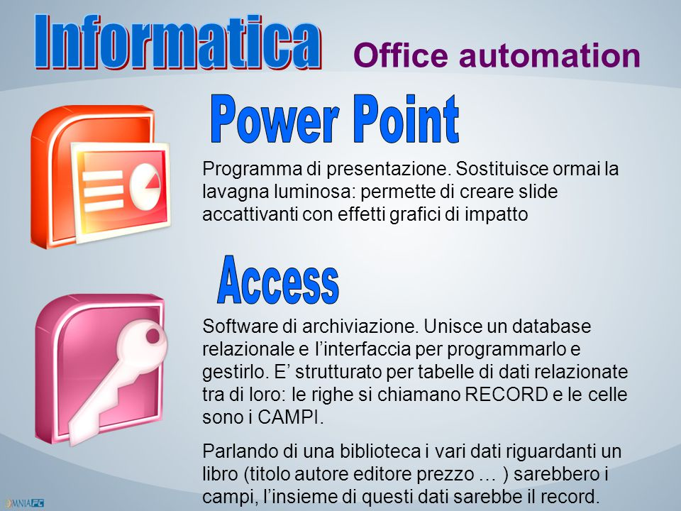 Informatica Office automation Power Point Access