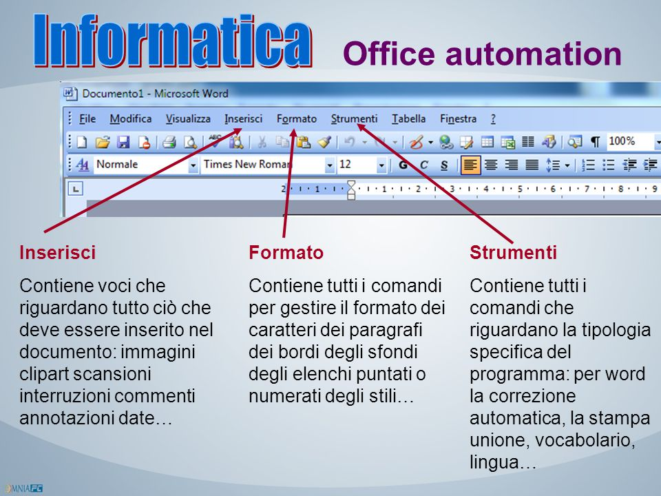 Informatica Office automation Inserisci