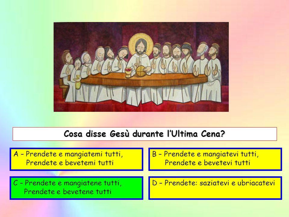 Cosa disse Gesù durante l'Ultima Cena