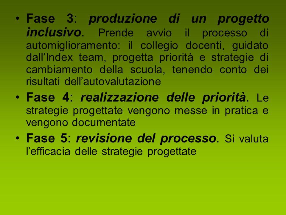 Fase 3: produzione di un progetto inclusivo