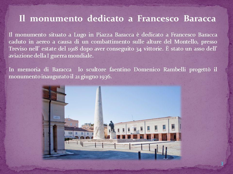 Il monumento dedicato a Francesco Baracca