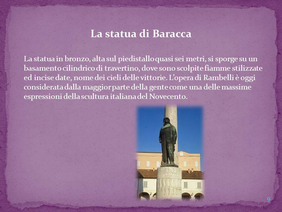 La statua di Baracca