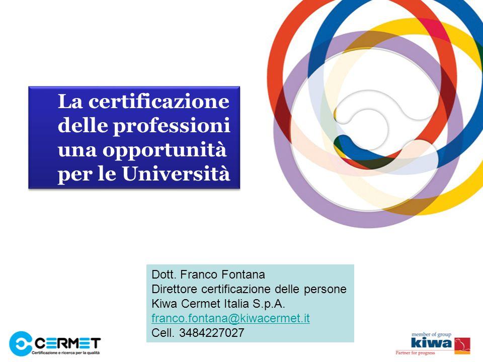 La certificazione delle professioni una opportunità per le Università