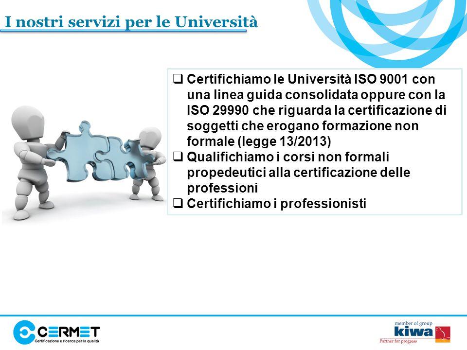 I nostri servizi per le Università
