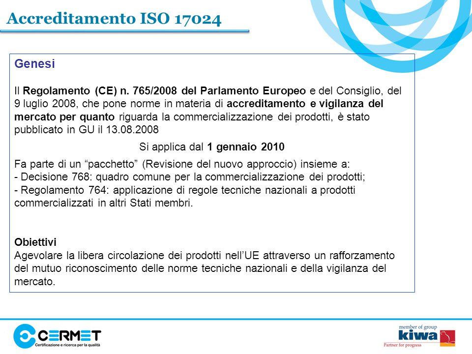 Accreditamento ISO 17024 Genesi
