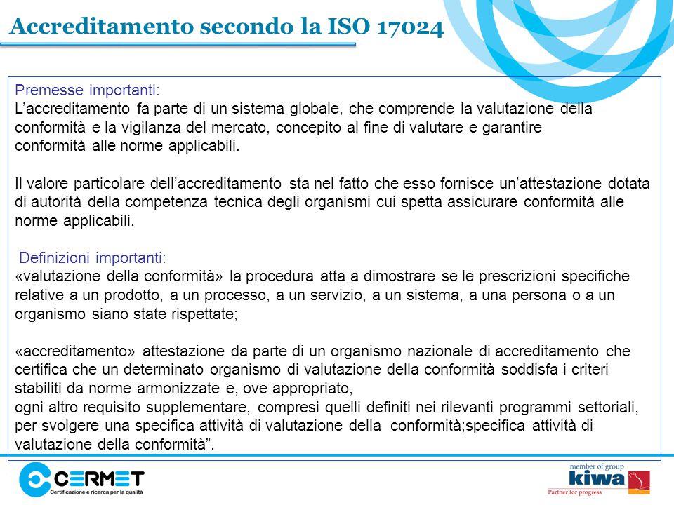 Accreditamento secondo la ISO 17024