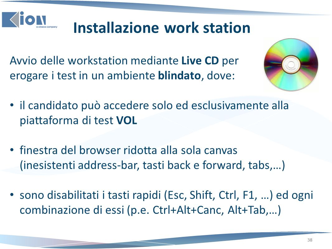 Installazione work station