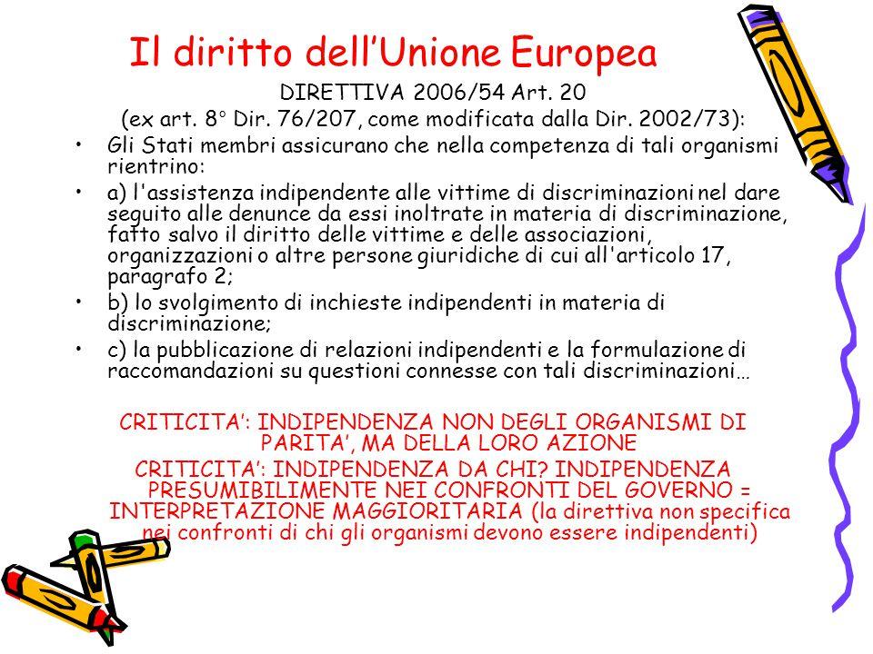 Il diritto dell'Unione Europea