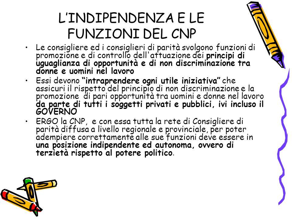 L'INDIPENDENZA E LE FUNZIONI DEL CNP