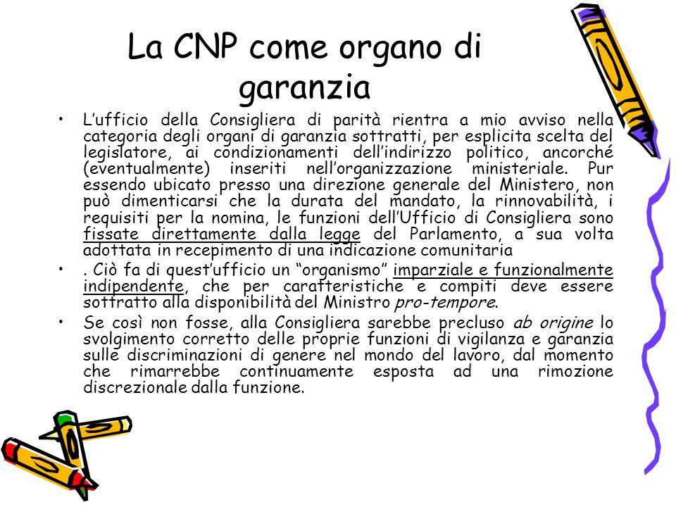La CNP come organo di garanzia