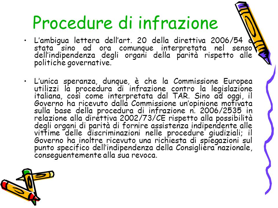 Procedure di infrazione
