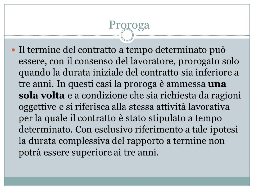 Proroga