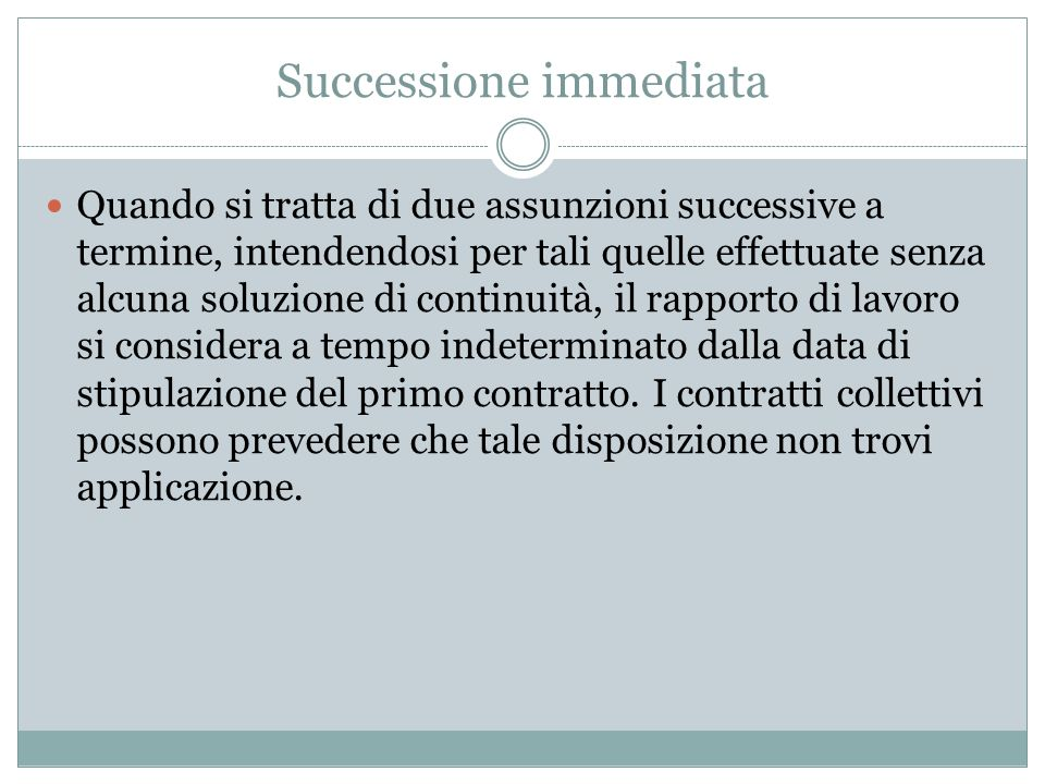 Successione immediata