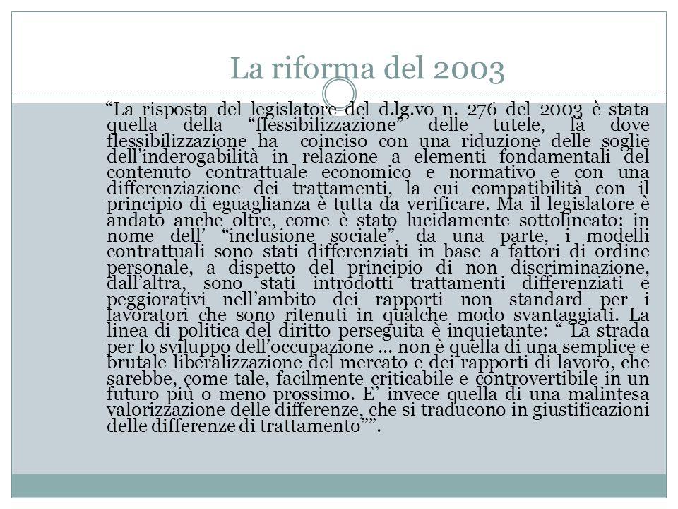 La riforma del 2003