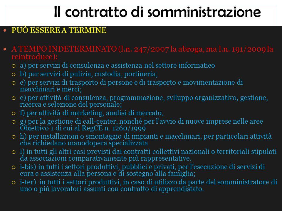 Il contratto di somministrazione