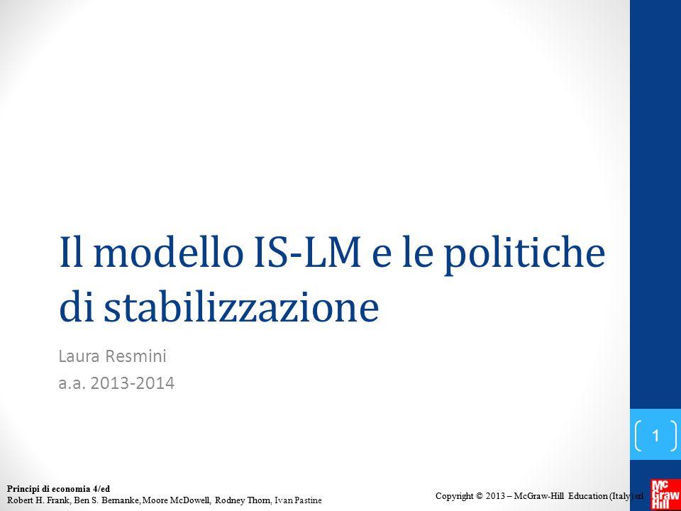 Il modello IS-LM e le politiche di stabilizzazione
