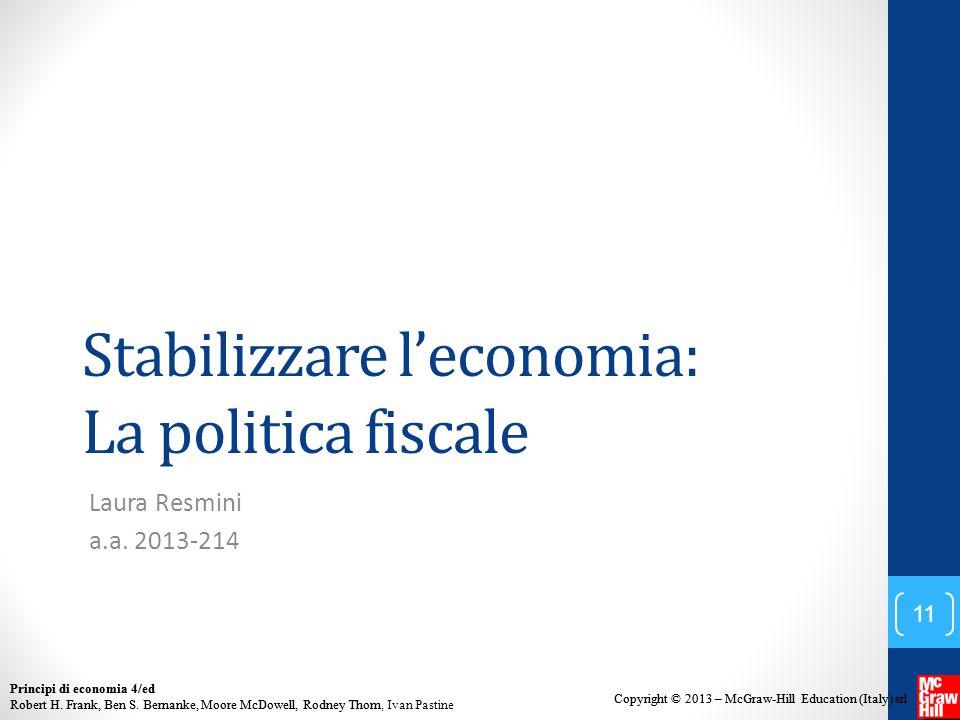 Stabilizzare l'economia: La politica fiscale