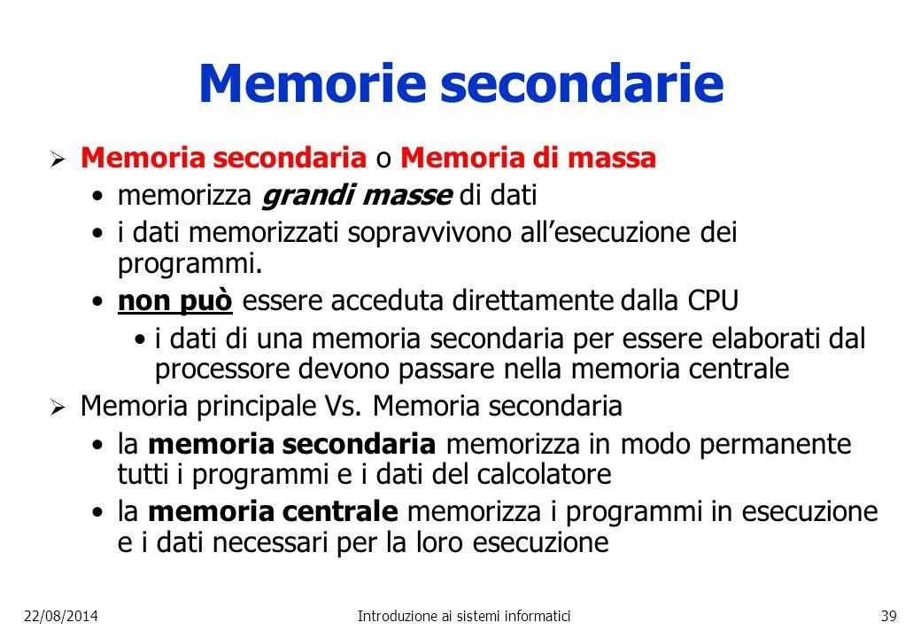 Introduzione ai sistemi informatici