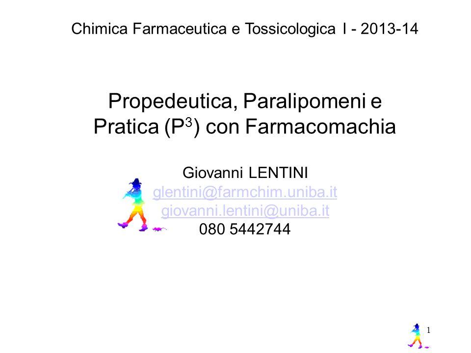 Propedeutica, Paralipomeni e Pratica (P3) con Farmacomachia