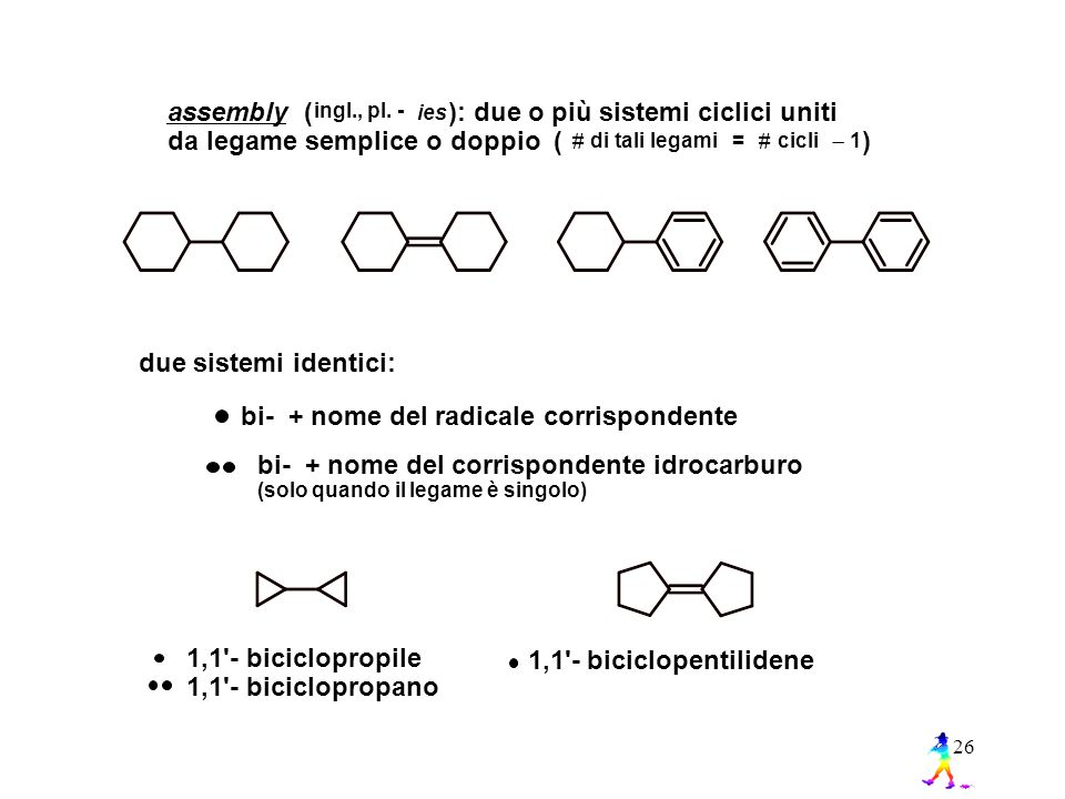 ): due o più sistemi ciclici uniti da legame semplice o doppio ( )