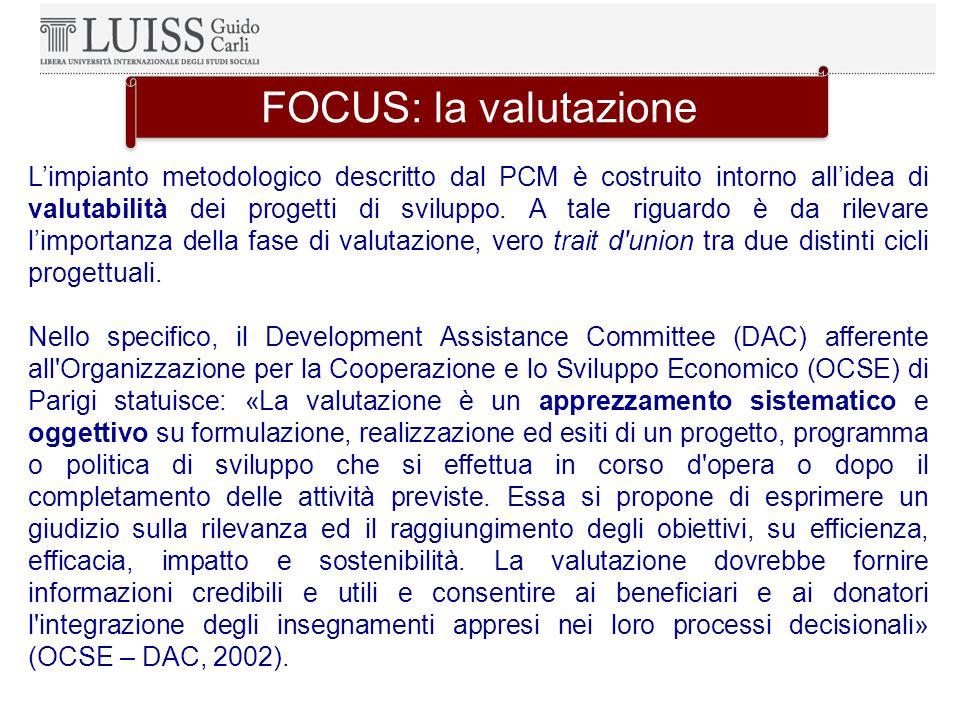 FOCUS: la valutazione