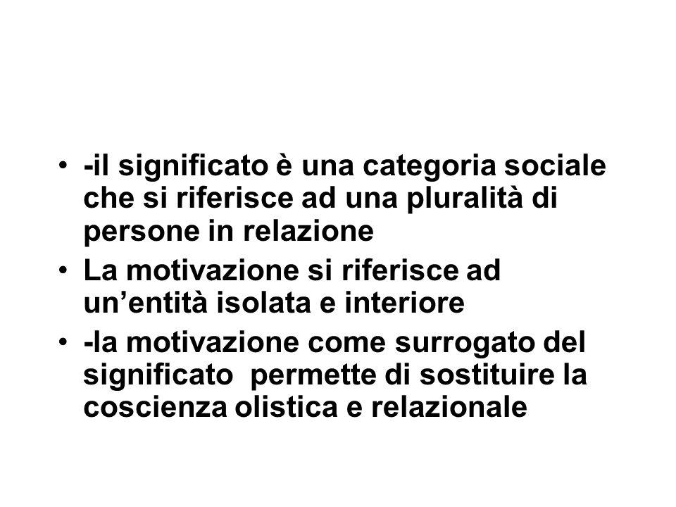 -il significato è una categoria sociale che si riferisce ad una pluralità di persone in relazione