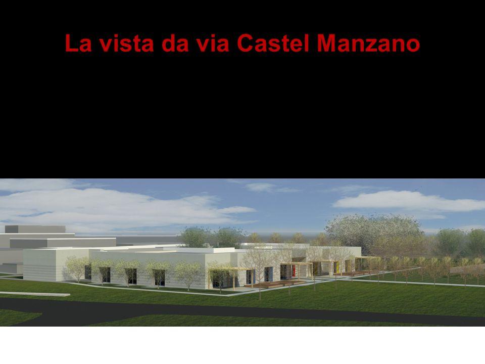 La vista da via Castel Manzano